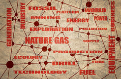 Nature gas industry relative words Stock Photo