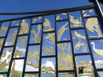 Nature Gates at. The Crazy Horse Memorial is a mountain monument complex in the Black Hills, in Custer County, South Dakota. It represents Crazy Horse, an Oglala Royalty Free Stock Photography