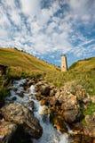 Nature in Georgia, Svaneti, Mestia, Adishi Royalty Free Stock Photo