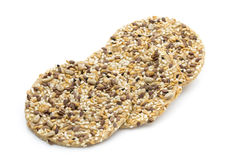 Nature gourment biscuits with sea salt and sesam seeds. Stock Photography