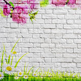 The nature of graffiti on a brick wall Stock Image