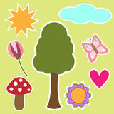 Nature graphics collection Royalty Free Stock Image