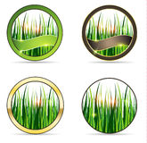 Nature and grass icon set Royalty Free Stock Photo