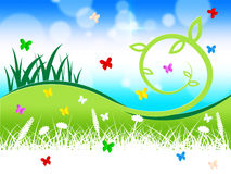 Nature Grass Indicates Butterflies Outdoors And Animals Stock Photo
