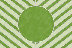 Nature green chevron stripe pattern with circle text frame Stock Photo