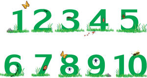 Nature Green grass numbers Stock Photos
