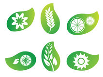 Nature green leaf logos Royalty Free Stock Images