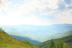 Nature. Green mountain landscape in the summer Stock Image