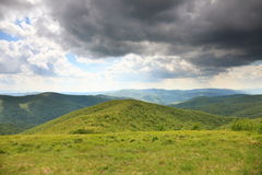Nature. Green mountain landscape in the summer Stock Photo