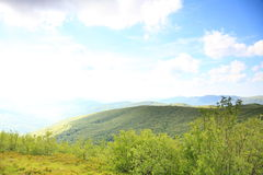Nature. Green mountain landscape in the summer Stock Images