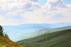 Nature. Green mountain landscape in the summer Royalty Free Stock Photo