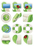 Nature green web icons Royalty Free Stock Images