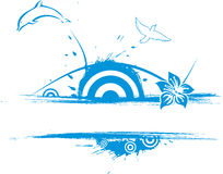 Nature of grunge vector illustration