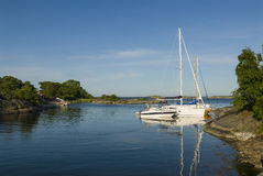 Nature harbour Angskar Stockholm outer archipelago Royalty Free Stock Image