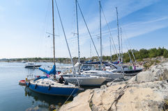 Nature harbour Stora Nassa Stockholm archipelago Royalty Free Stock Photo