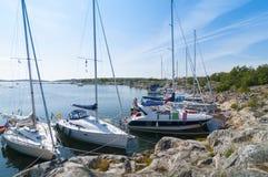 Nature harbour Stora Nassa Stockholm archipelago Royalty Free Stock Photos