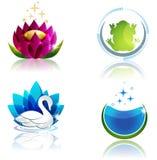 Nature and health symbols stock illustration
