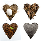 Nature hearts Royalty Free Stock Photo