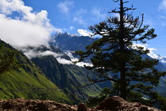 Nature in Himalayas. Enroute mount kailash, the adobe of lord shiva and the heaven on earth royalty free stock image