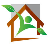 Nature home. Vector illustration of nature home logo Royalty Free Stock Photos