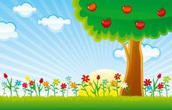 Nature horizontal royalty free illustration