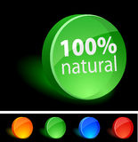 Nature Icon. Nature 3d icon. Vector illustration Royalty Free Stock Photos