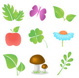 Nature icon. Colorful nature icon set. Vector illustration EPS 8 Royalty Free Stock Photo