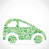 Nature icon and design car Royalty Free Stock Photography