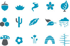Nature Icon Set Stock Photography