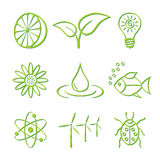 Nature Icon Set Stock Photos