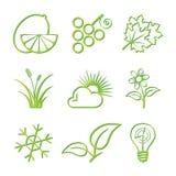 Nature Icon Set Stock Photos