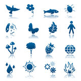Nature icon set Royalty Free Stock Photography