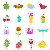 Nature icon set Royalty Free Stock Images