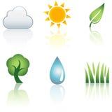 Nature Icon Set Stock Image