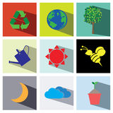 Nature icon set illustration eps10 Royalty Free Stock Photo