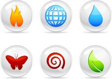 Nature Icons. Royalty Free Stock Image