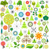 Nature Icons Stock Photography