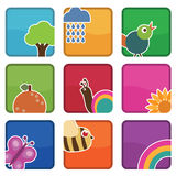Nature icons Stock Image