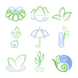 Nature icons. Abstract icons or logos. Vector Royalty Free Stock Photography