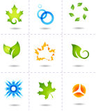 Nature icons Stock Photos