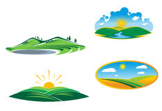 Nature icons Royalty Free Stock Photos