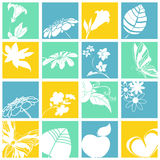 Nature icons Stock Photos