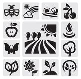 Nature icons Stock Images