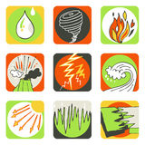 Nature icons Royalty Free Stock Images