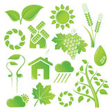 Nature Icons. Vector set of nature icons Royalty Free Stock Photo