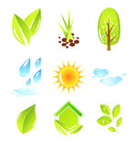Nature icons Royalty Free Stock Image