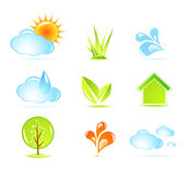 Nature icons Royalty Free Stock Photography