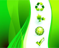 Nature Icons on Abstract Internet Background Royalty Free Stock Photos
