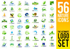 Nature Icons Logo Set Stock Photos