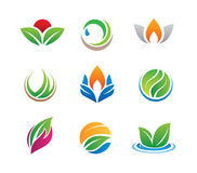 Nature icons and logos Stock Photo